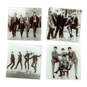 The Beatles 4 Piece Glass Coaster Set