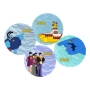 The Beatles Yellow Submarine 4 piece 10 inch Ceramic Plate Set.