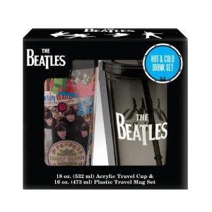 The Beatles Plastic Travel Mug and 18 Ounce Acrylic Cup Set