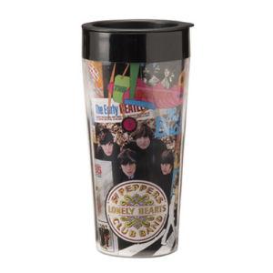 The Beatles Albums 16 Ounce Plastic Travel Mug