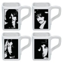 The Beatles White Album Square 4 piece 12 Ounce Ceramic Mug Set