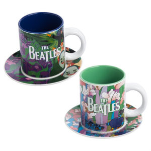 Beatles Yellow Submarine Cup and Saucer 4-Piece Set