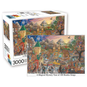 Beatles Inspired Magical Mystery Tour 3000 Piece Puzzle