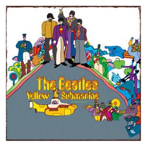 The Beatles Yellow Submarine Album Cover Heavy Gauge Metal Sign