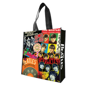 The Beatles Albums Large Recycled Shopper Tote