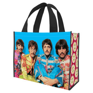 The Beatles Sgt. Peppers Lonely Hearts Club Band Large Recycled Shopper Tote