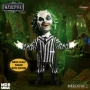 Mega Scale Talking Beetlejuice Doll. Measures a whopping 15 inches tall and has 11 points of articulation. Press the button oh his back and hear the obnoxious apparition speak a total of 7 phrases.
