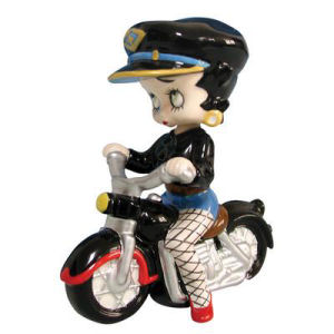 Westland Giftware Betty Boop Motorcycle Mini Bobble Figurine