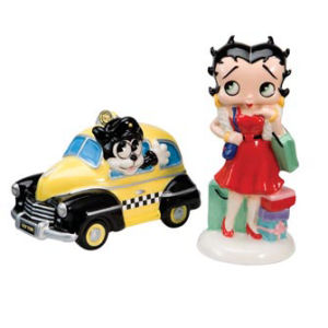 Vandor Betty Boop Shopping Salt and Pepper Set