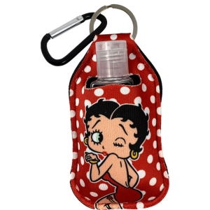 Betty Boop Sanitizer Cover Key Chain