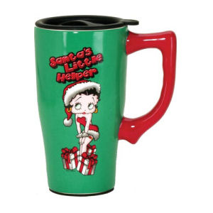 Betty Boop Santas Litte Helper Travel Mug with Handle