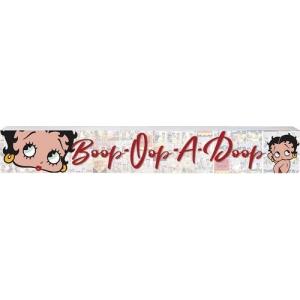 Betty Boop Boop-Oop-A-Doop Wide Wooden Sign