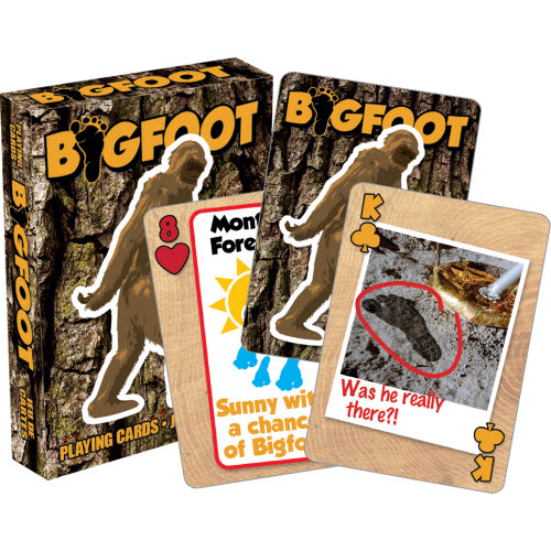 Bigfoot Playing Cards.