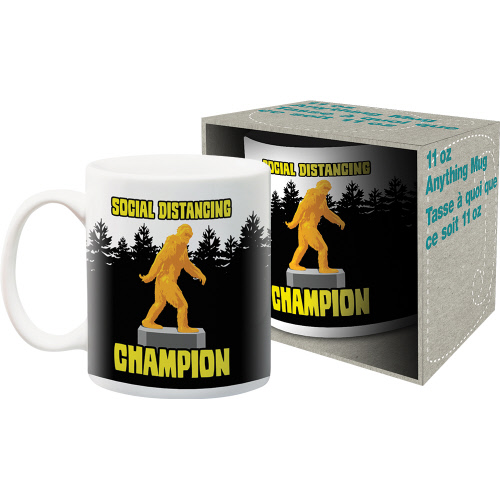 Social Distancing Champion Bigfoot 11 Ounce Boxed Mug.