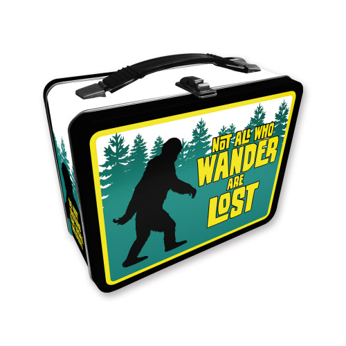 Bigfoot Not all that wander are lost Gen 2 Fun Box Tin Tote Lunchbox.