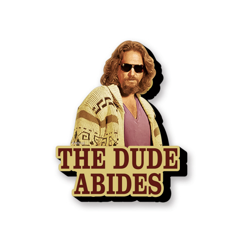 The Big Lebowski The Dude Abides Funky Chunky Magnet.