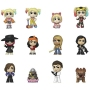Birds Of Prey Mystery Minis Figures Display Case. Each Blind boxed figure measures 2.5 inche stall. Harley Quinn with caution tape jacket - Harley Quinn from Boobytrap Battle - broken-hearted Harley Quinn - roller derby Harley Quinn - Incognito Harley Qui