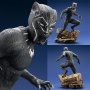 Marvel Studios Black Panther Movie 1/6th Scale Black Panther ArtFX+ Statue. Statue stands 12.59 inches tall.  This incredibly detailed black body suit combines a subtle texture with reinforced sections and decorative silver elements and thats not to menti