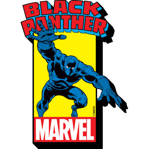 Marvel Black Panther w/Logo Funky Chunky Magnet.