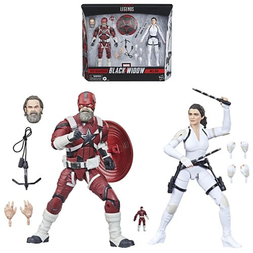 Marvel Legends Black Widow Movie Red Guardian and Melina Vostokoff 2-Pack 6 Inch Action Figures.
