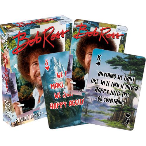 Bob Ross Quotes Playing Cards.