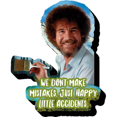 Bob Ross Little Accidents Funky Chunky Magnet