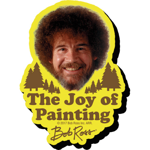 Bob Ross Joy Funky Chunky Magnet.