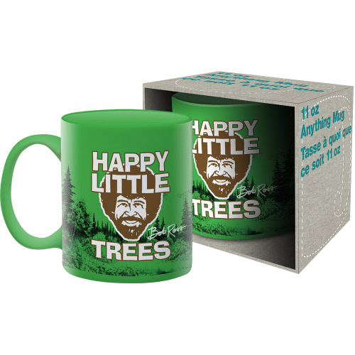 Bob Ross Trees 11 Ounce Boxed Mug.