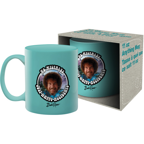 Bob Ross No Mistakes 11 Ounce Boxed Mug.