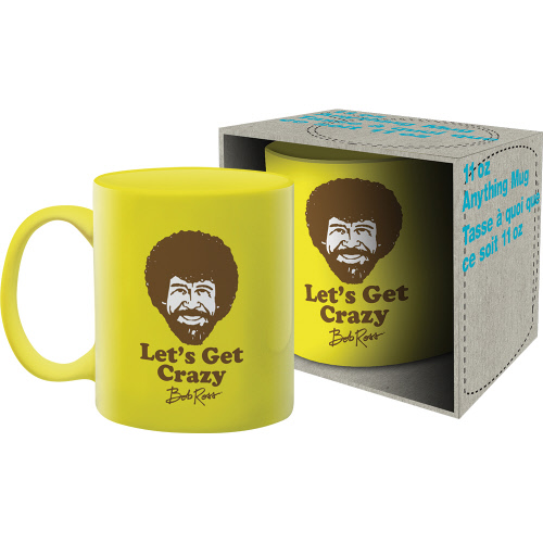 Bob Ross Crazy 11 Ounce Boxed Mug.