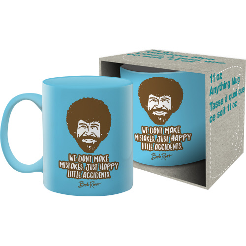 Bob Ross Accidents 11 Ounce Boxed Mug.