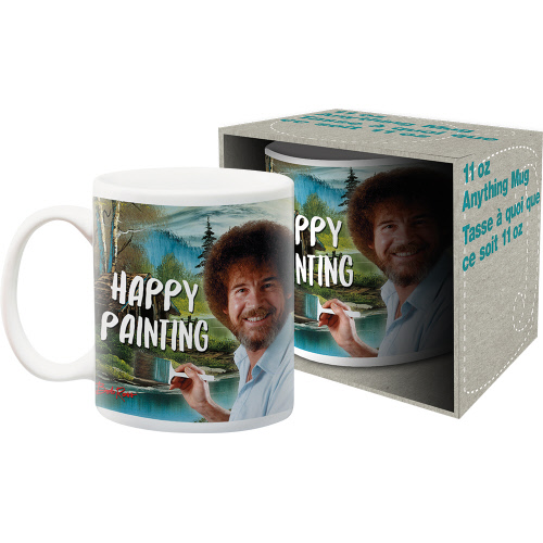 Bob Ross Happy Painting 11 Ounce Mug.