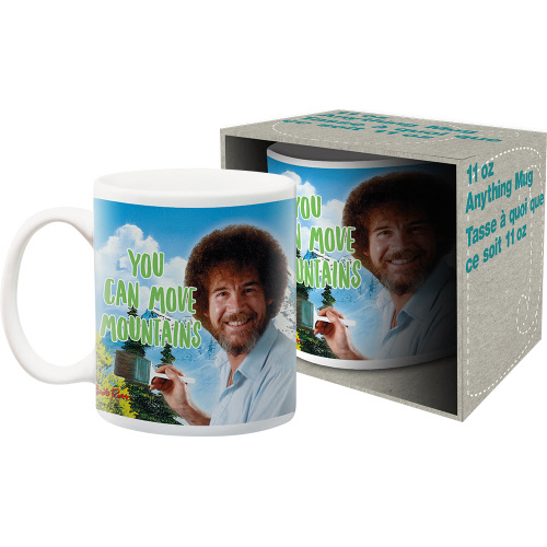 Bob Ross Move Mountains 11 Ounce Mug.