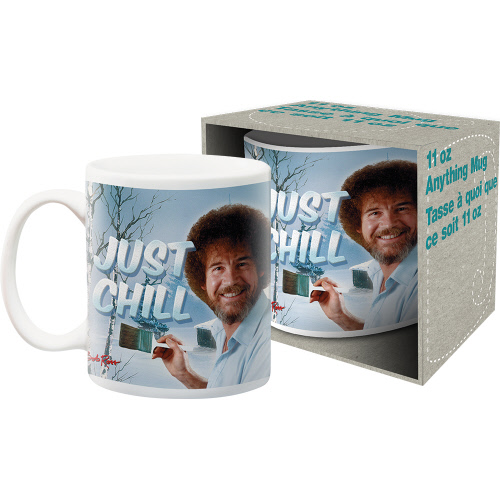Bob Ross Just Chill 11 Ounce Mug.