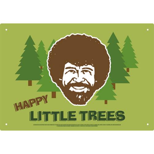Bob Ross Happy Little Trees Tin Sign