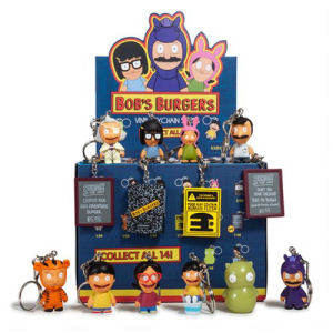 Bobs Burgers Mini-Figure Key Chains Display Tray