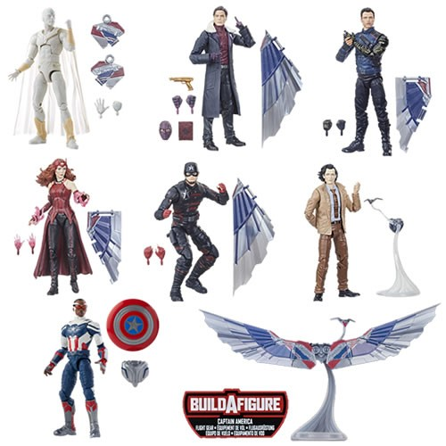 Marvel Legends Captain America Flight Gear 6 Inch Action Figures Case. Collect all figures in this Marvel Legends Series Build-a-Figure collection to assemble your own Capitan America Flight Gear!  These 6 Inch action figures are highly articulated.