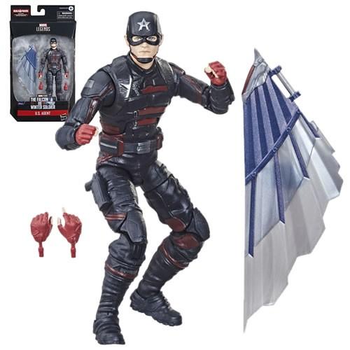 Marvel Legends U.S. Agent 6 Inch Action Figure. Build-A-Figure Cap America Flight Gear.