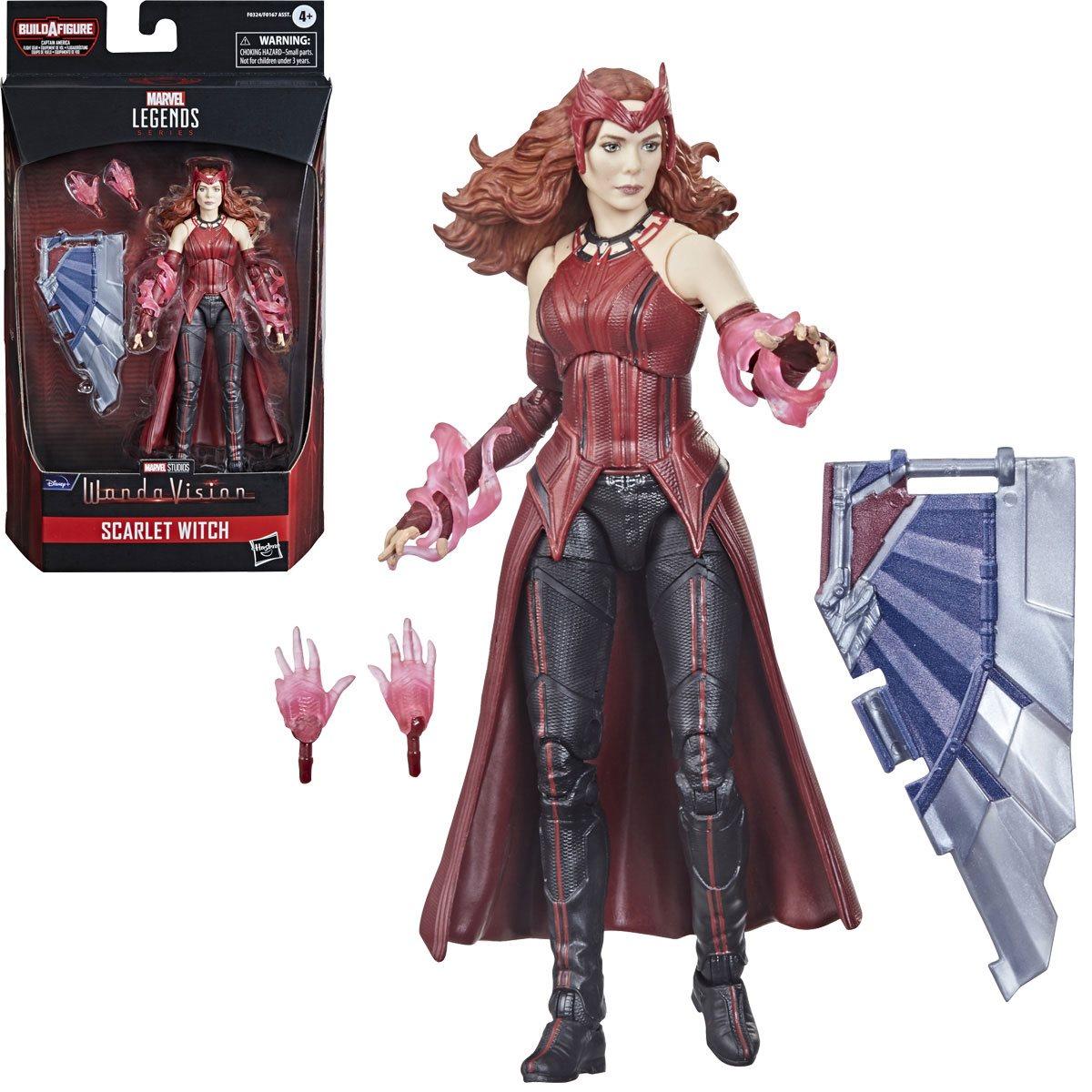 Marvel Legends Scarlet Witch 6 Inch Action Figure. Build-A-Figure Cap America Flight Gear.