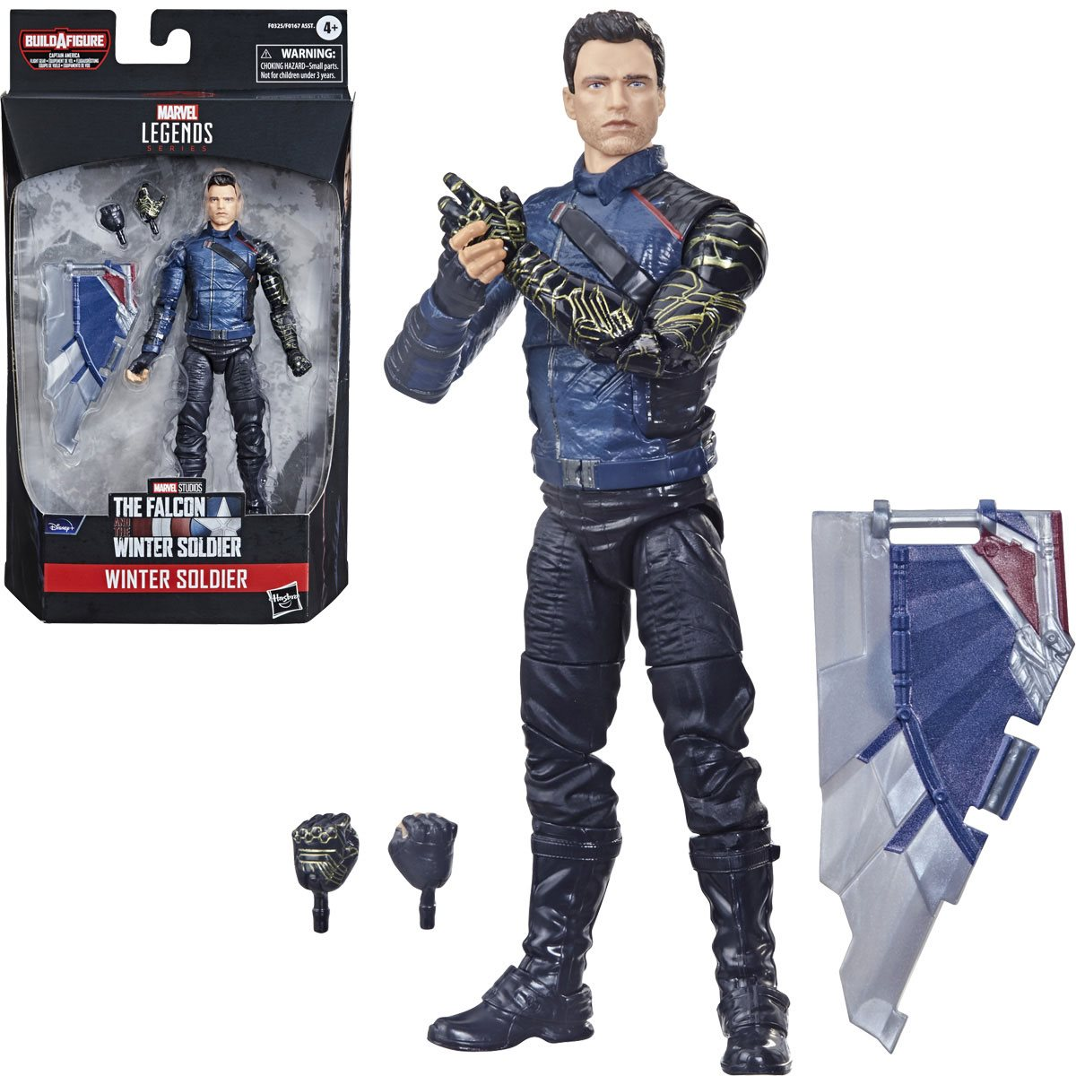 Marvel Legends Winter Soldier 6 Inch Action Figure. Build-A-Figure Cap America Flight Gear.