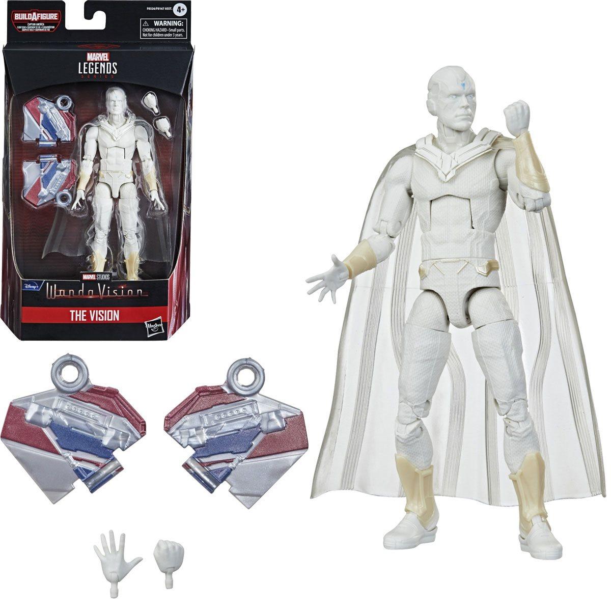Marvel Legends Vision 6 Inch Action Figure.  Build-A-Figure Cap America Flight Gear