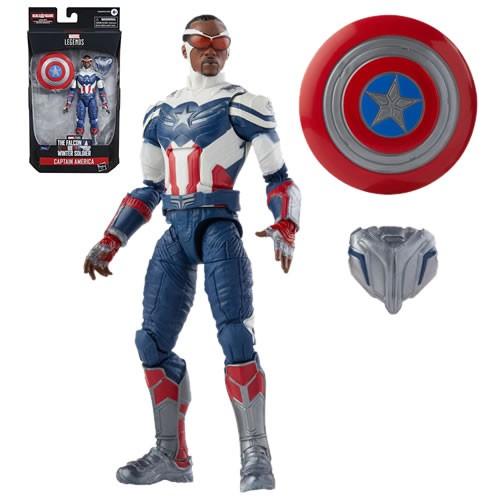 Marvel Legends Capitan America 6 Inch Action Figure. Build-A-Figure Cap America Flight Gear.