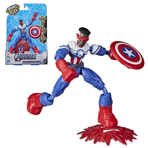 Avengers Bend And Flex Captain America (Sam Wilson) Action Figure.