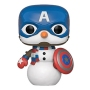 Marvel Comics Holiday Captain America Pop! Vinyl Figure. Make your holidays more festive with this new series of Marvel Pop!
