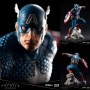ArtFX Premier Marvel Comics Captain America 1/10th Scale Statue. This is a limited edition of 3500 pieces. Sculpted by RESTORE. Captain America stands nearly 10 inches tall in his crouching pose on the rocky display base.