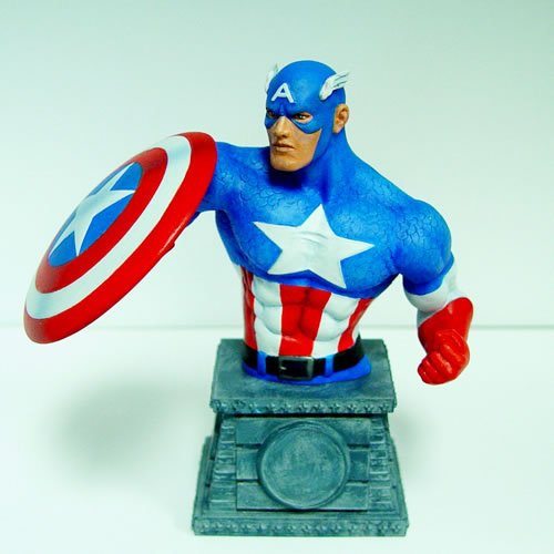 Marvel Comcs Captain America Bust Paperweight.