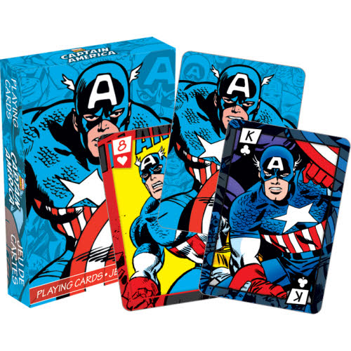 Marvel- Captain America Comics Playing Cards