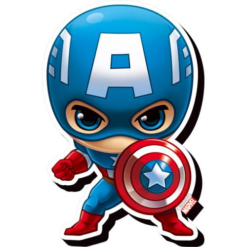 Avengers Captain America Chibi Funky Chunky Magnet.
