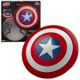 Marvel Legends 80th Anniversary Series Captain America Shield Prop Replica. Celebrate 80 years of exciting Marvel comics and entertainment with the 1:1 full-scale Captain America roleplay shield with detailed sculpting and premium finish that looks