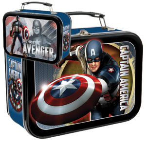 Captain America Large Lunch Box Tin Tote